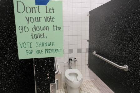 """Don't Let Your Vote Be Flushed Down the Drain"""
