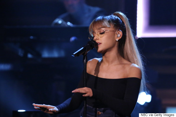THE TONIGHT SHOW STARRING JIMMY FALLON -- Episode 0536 -- Pictured: Musical guest Ariana Grande performs on September 19, 2016 -- (Photo by: Andrew Lipovsky/NBC/NBCU Photo Bank via Getty Images)