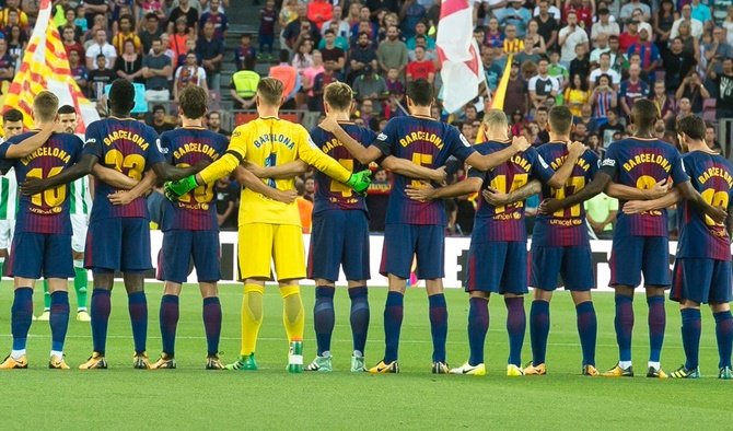 FC Barcelona Pays Tribute to Attack Victims