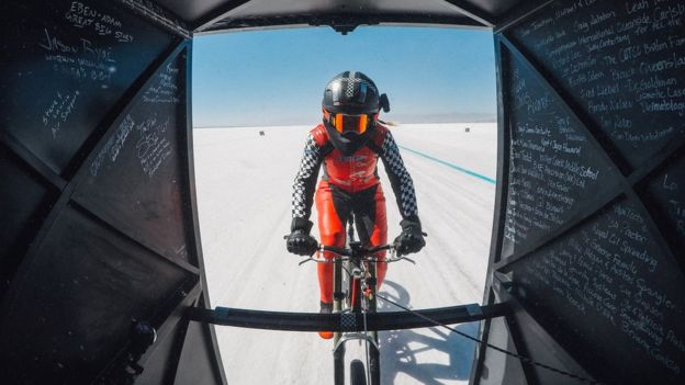 Speeding Across the Salt Flats-On a Bicycle