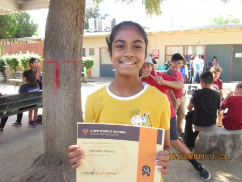 October Student of the Month – Abhisri Narayanan