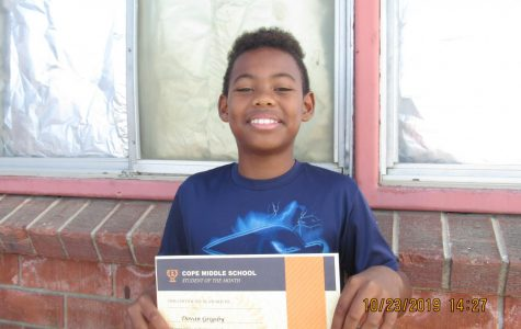 October Student of the Month – Dovan Grigsby