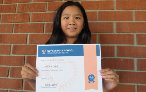 September Student of the Month: Lilly Setiadi