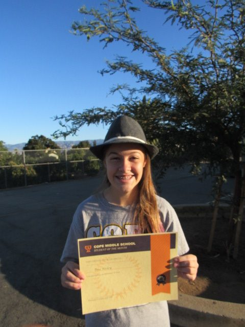 October Student of the Month - Tess Risley