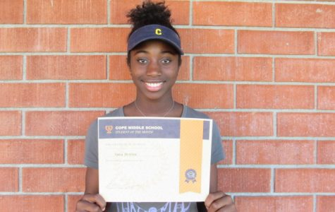 October Student of the Month – Sara Brittin