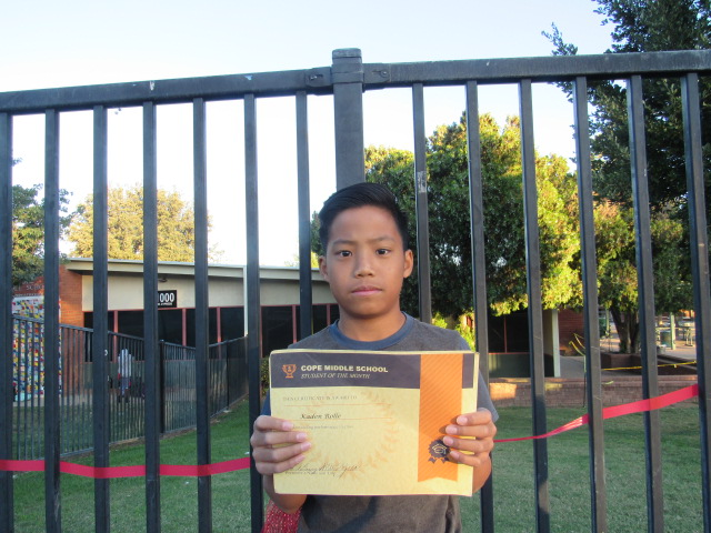 October Student of the Month – Kaden Rolle