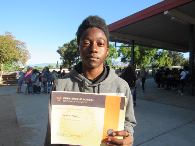 October Student of the Month – Thomas Darko