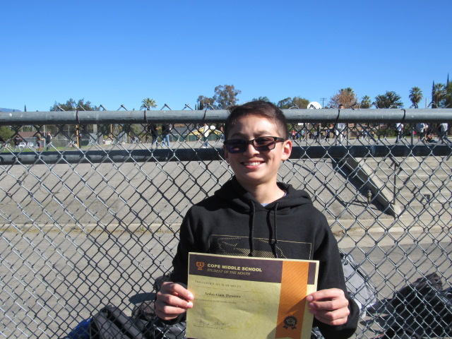 January Student of the Month- Sebastian Powers