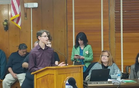Two Students Speak About Cope Theater at Board Meeting