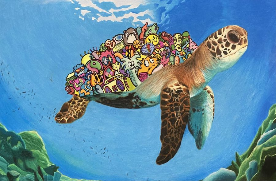 """I feel that art and turtles are somewhat alike. Not in any physical attributes or anything like that, but instead what they"